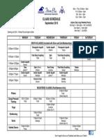 Sep 2015 Class Schedule