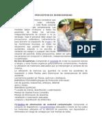 BIOSEGURIDAD- BARRERAS QUIMICAS
