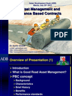 Performance Based Contracts (PBCs) for Road Maintenance