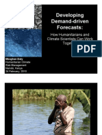 Humanitarian CRM Workshop - Demand Driven Forecasts - M. Daly