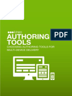 Authoring Tools for Multi Device Delivery
