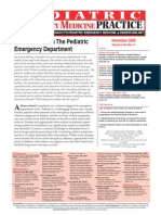 Acute Asthma in the Pediatric Emergency Department
