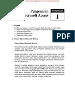 Microsoft Access1 Tutorial belajar