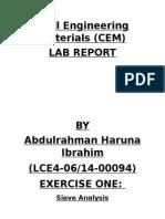Civil engineering material lab report