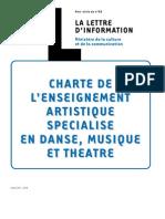 Charte Enseignement Artistique