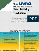 Presentación Estadística y Probabilidad I