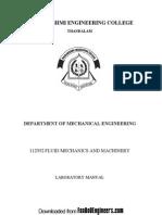 184629805 Fluid Mechanics and Machinery Lab