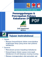 Penanggulangan & Pencegahan Bahaya Kebakaran