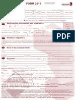 2016 Ski Venture Booking Form