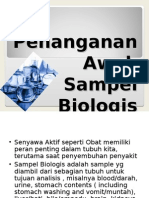 2. Penyiapan Sampel Biologis