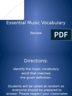 Essential Music Vocabulary Review