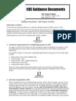 CBE Guidance Document 2 SAP Project Creation
