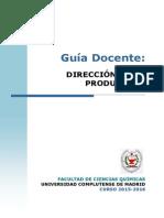 GIQ_Guia Docente Direccion de La Produccion_2015_FINAL
