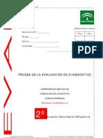 Evaluación diagnóstica competencia lingüística 2º ESO Andalucía 2008_Cuadernillo 2
