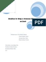 Analiza Tranzacțiilor Cu Acțiuni