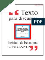 Austeridade para quem? A crise global do capitalismo neoliberal e as alternativas no Brasil - Pedro Paulo Zahluth Bastos