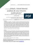 Normalidad y Salud Mental