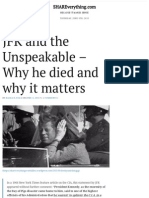 JFK and the Unspeakable – Why He Died and Why It Matters