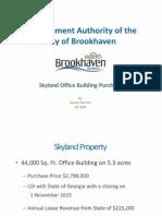 City Manager Marie Garrett Skyland Deal Presentation 9/8/2015