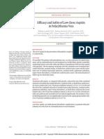 Dosis Efektif Aspirin Pada Polisitemiavera