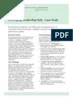 DevelopingLeadershipStyle-ExecutiveCoachingCaseStudy