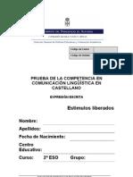 Evaluación diagnóstica expresión escrita 2º ESO_Asturias_2008