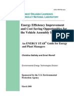 Energy Efficiency Improvement and Cost Saving Opportunities for the Vehicle Assembly Industry