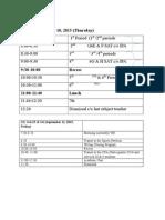 01 g6 schedule on september 10  11 2015