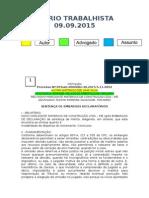 Diário Trabalhista 09.09.2015