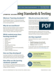 state learning standards and testing