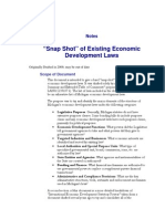 LAN01-#213760-V1- Snap Shot of Existing Economic Development Laws