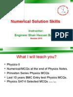 numerical skills lecture