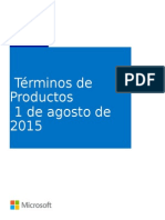 MicrosoftProductTerms(WW)(Spanish)(August2015)(CR)