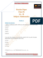 CBSE CBSE Class 9 Mathematics Practice Paper SA II 2015