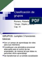 Clasificacion de Grupos Romero
