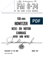 FM 6-74 105-MM HOWITZER M2A1 ON MOTOR CARRIAGE M7B1 AND M7B2