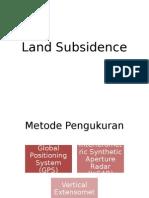 Land Subsidence
