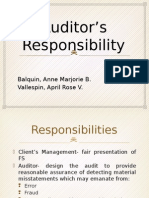 Auditor s Responsibility