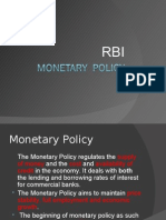 Monetary Policy RBI.