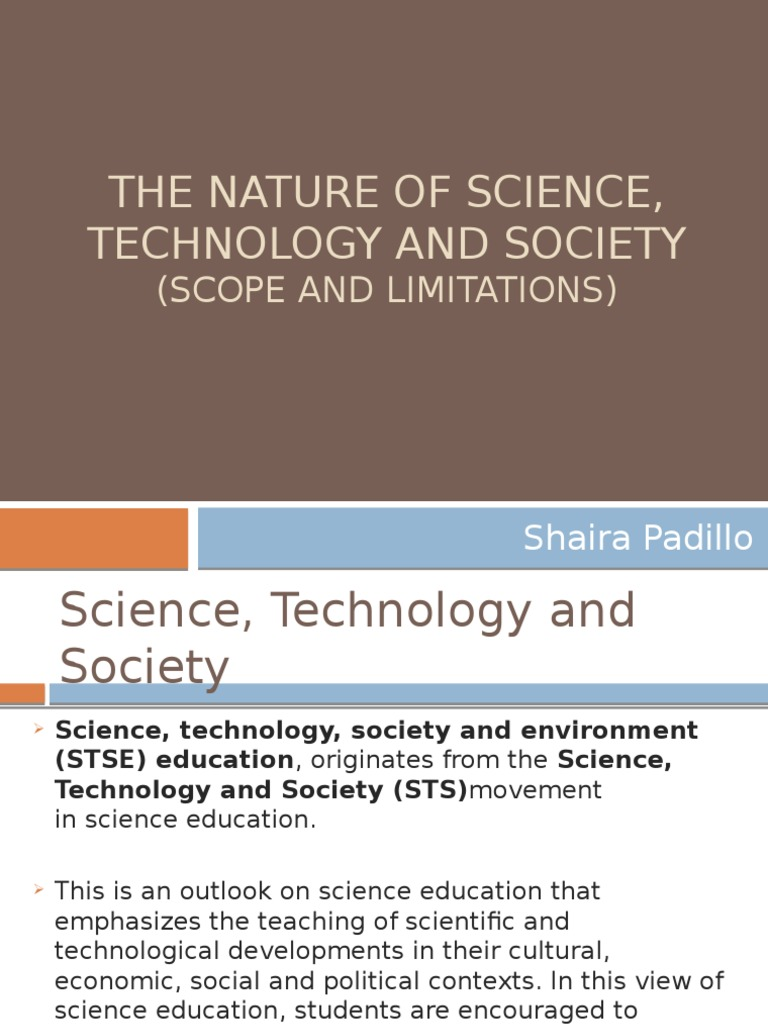 the nature of science technology and society pptx science the nature of science technology and society pptx science science education