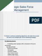 Strategic Salesforce Management