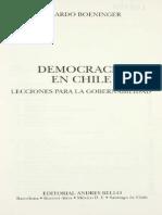 BOENINGER - Lecciones para la democracia
