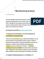 Manufacturing Acetone