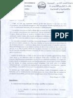 Examen Communication S1 2009-2010