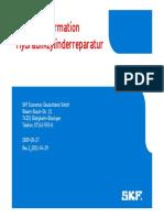 Produktinformation Hydraulikzylinder-Reparatur