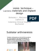 Arthroeresis Implants Colentina