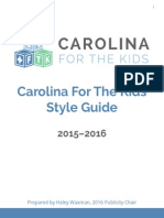 2016 Style Guide- Carolina For The Kids