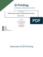 3D Printing - OCBA - 081214