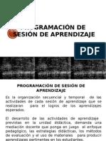 Programación de Sesión de Aprendizaje