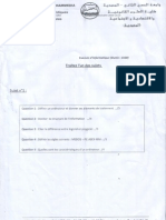 Examen Informatique S1 2009-2010